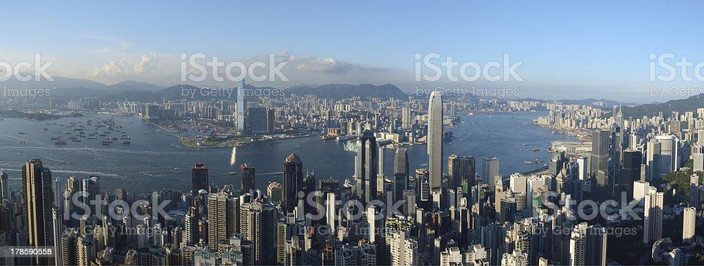 Hong Kong Skyline and Victoria Harbor stock photo