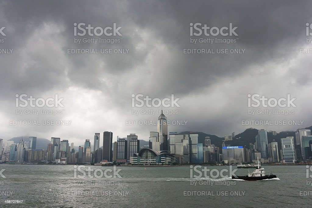 Hong Kong Skyline at Victoria Harbour royalty-free stock photo