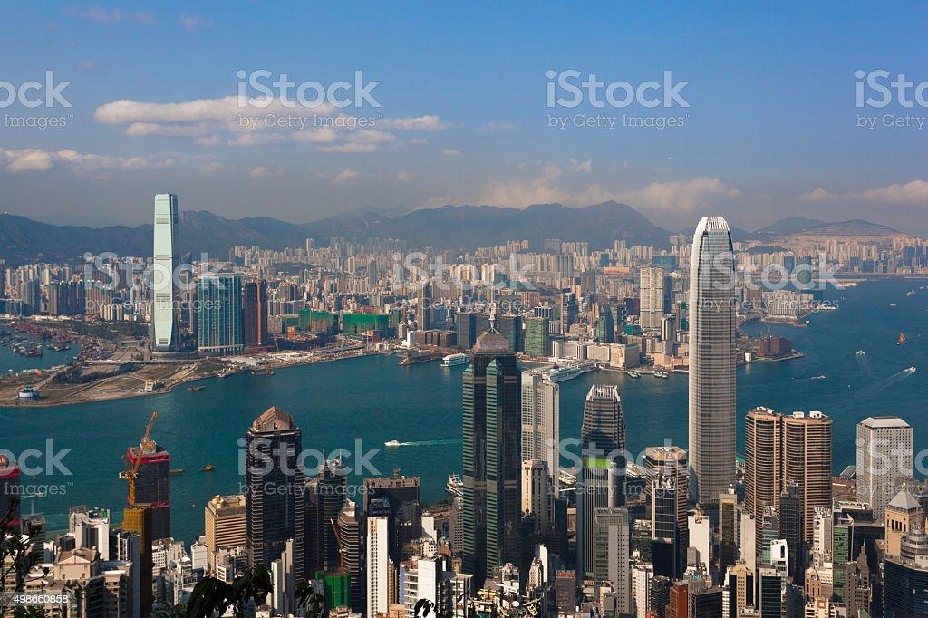 Hong Kong skyline. China. stock photo