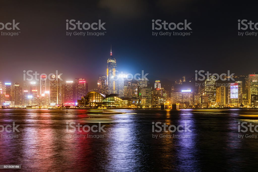 Hong Kong Skyline Convention Center View stock photo