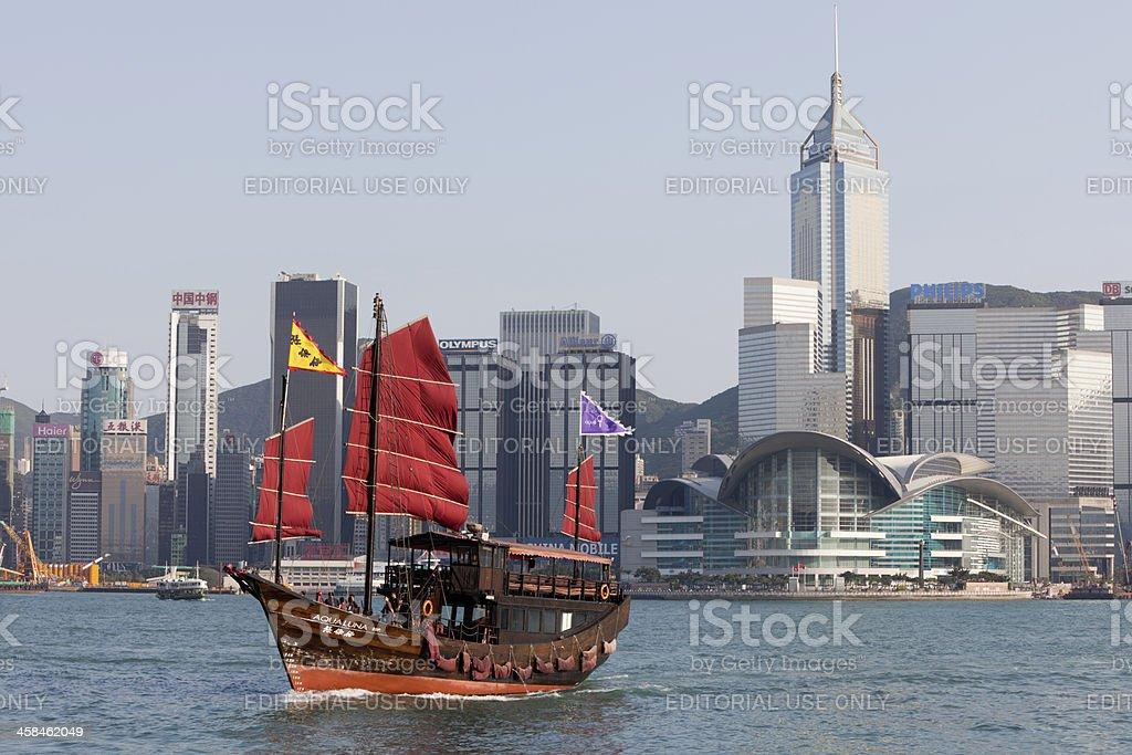 Hong Kong Skyline in Victoria Harbor royalty-free stock photo