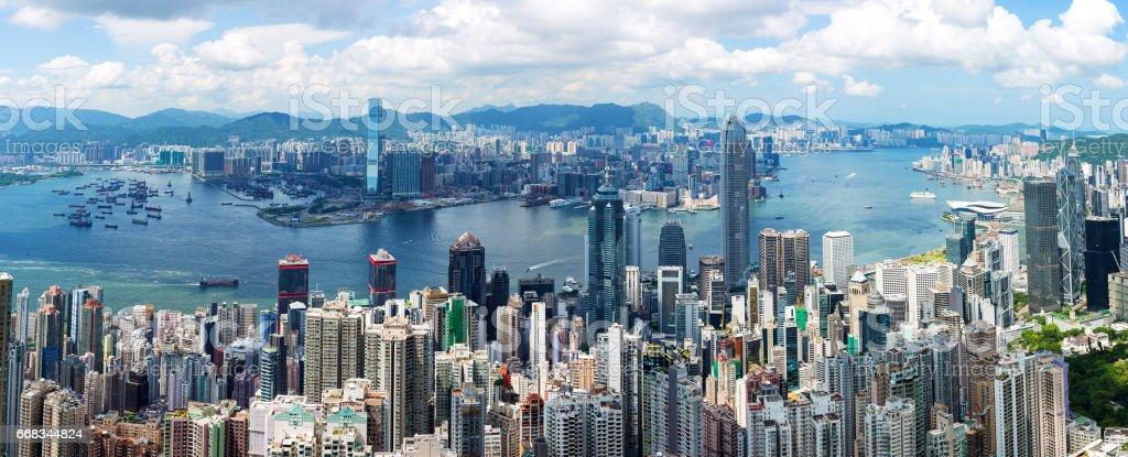 Hong Kong Skyline Panoramas stock photo