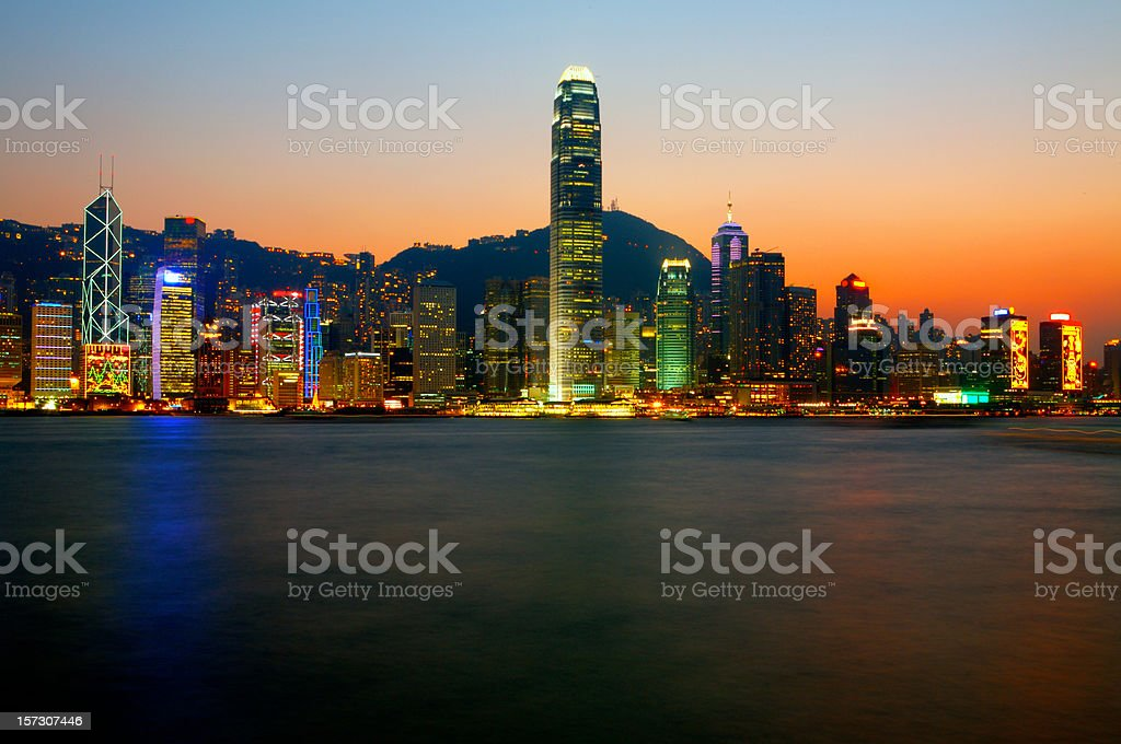 Hong Kong Skyline royalty-free stock photo