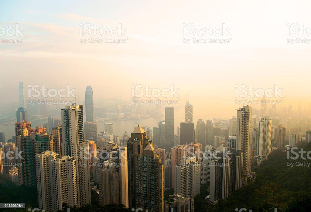 Hong Kong Skyline stock photo