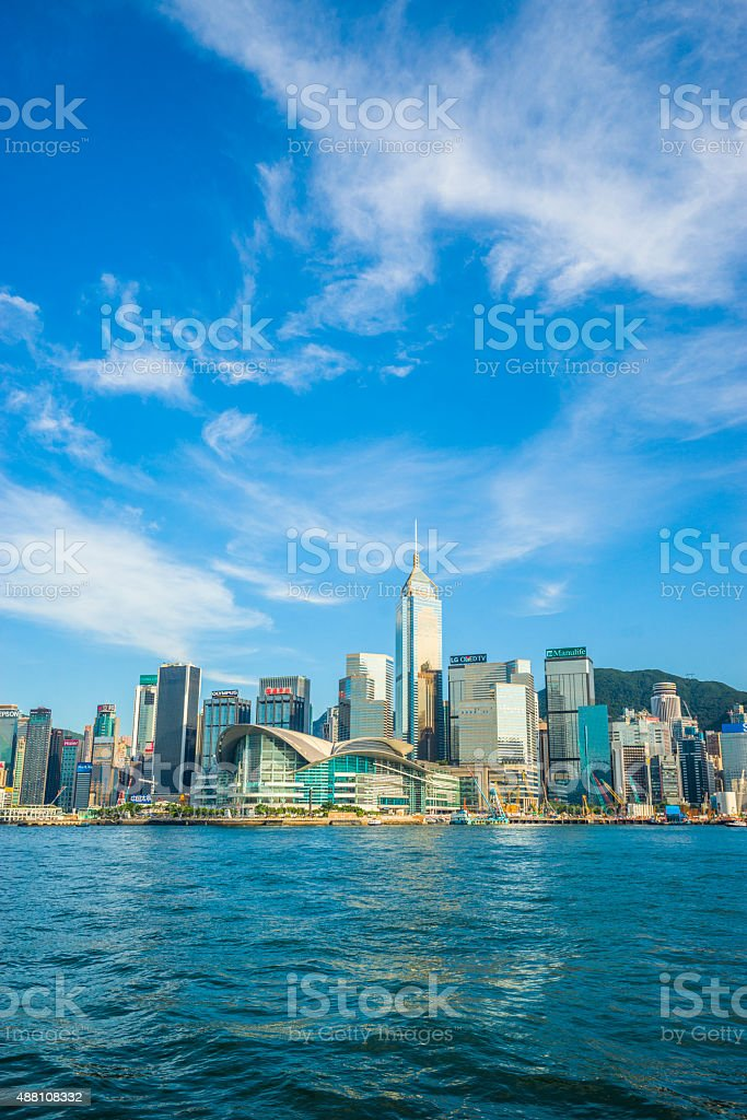 Hong Kong skyscraper stock photo