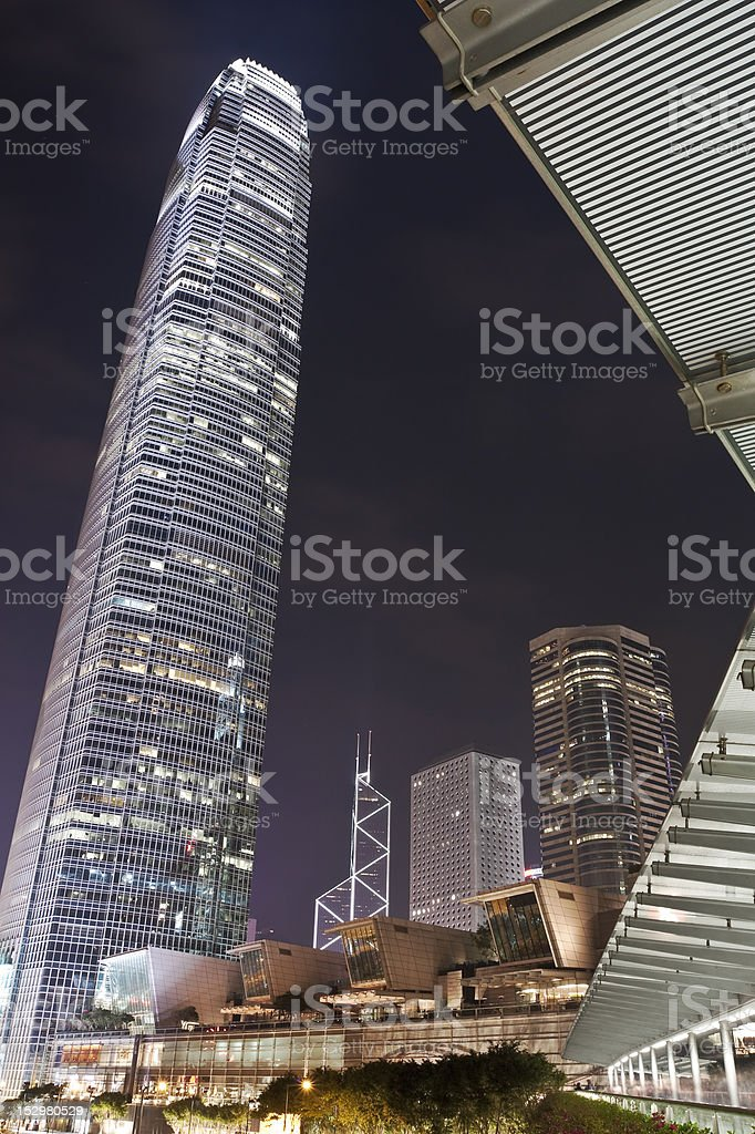 Hong Kong Skyscrapers stock photo