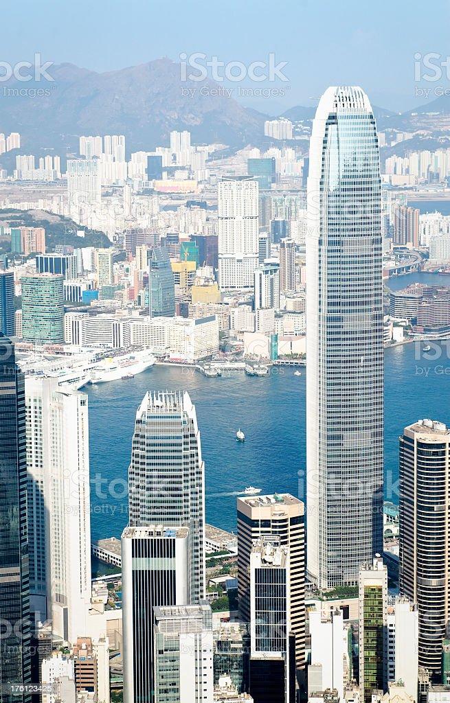 Hong Kong Skyscrapers royalty-free stock photo