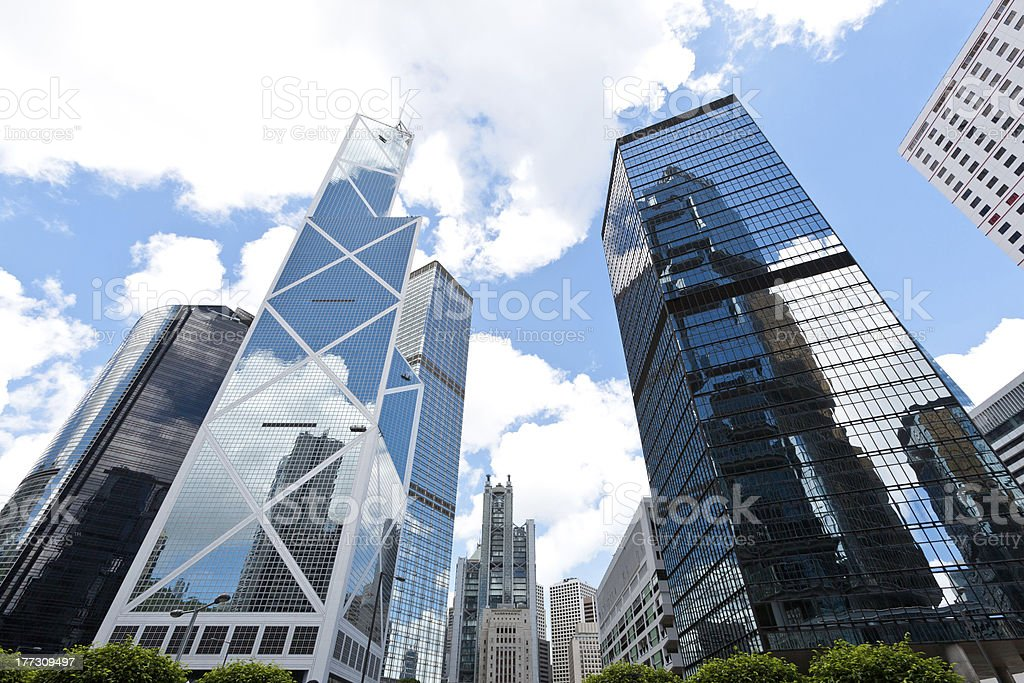 Hong Kong Skyscrapers royalty-free stock photo