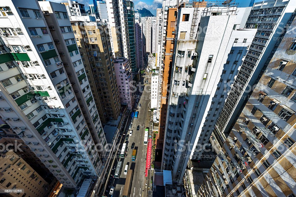 Hong Kong stree view stock photo