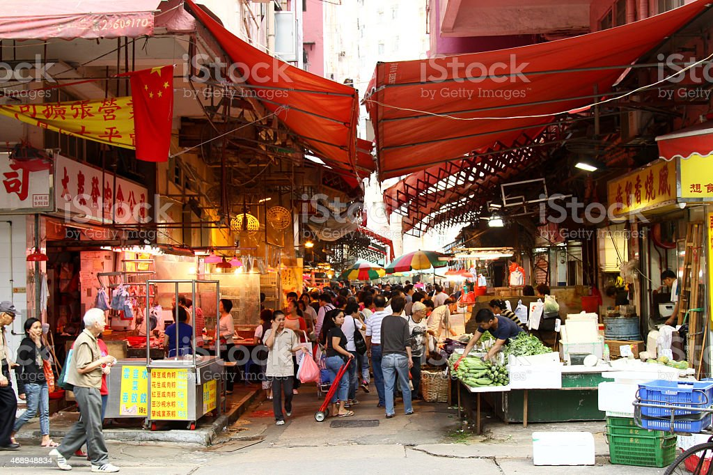 Hong Kong Street Market - Mong kok stock photo