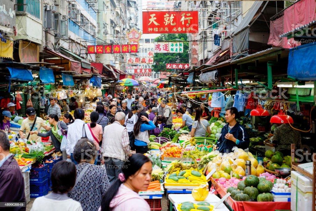 Hong Kong Street Market stock photo