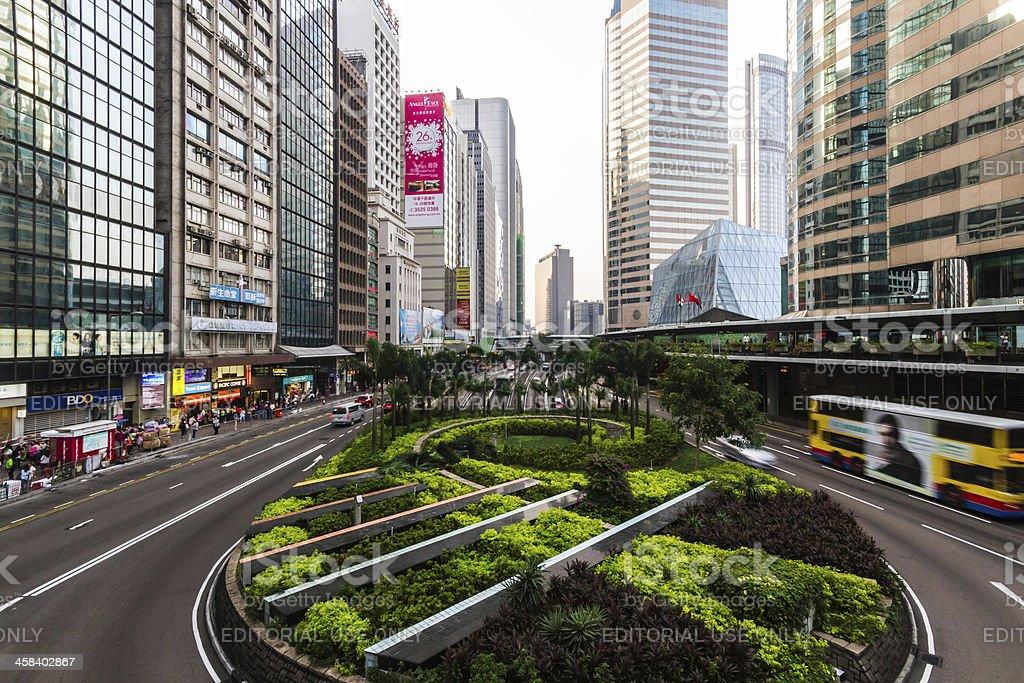 Hong Kong street. stock photo
