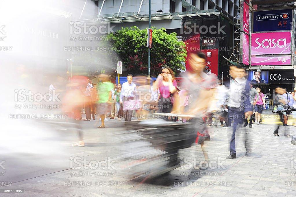 Hong Kong street stock photo