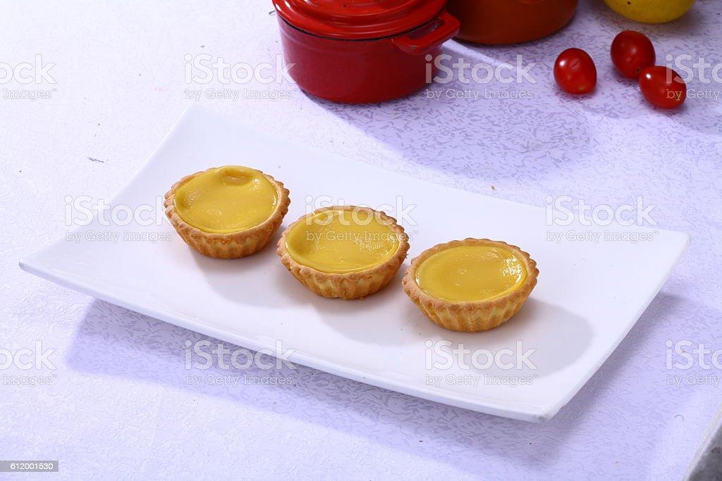 Hong Kong style Egg tart (蛋挞) stock photo