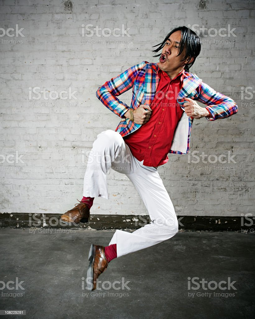 Hong kong style street fighter stock photo