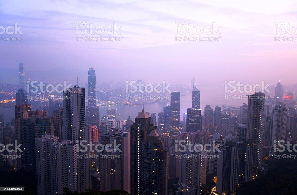 Hong Kong Sunrise stock photo