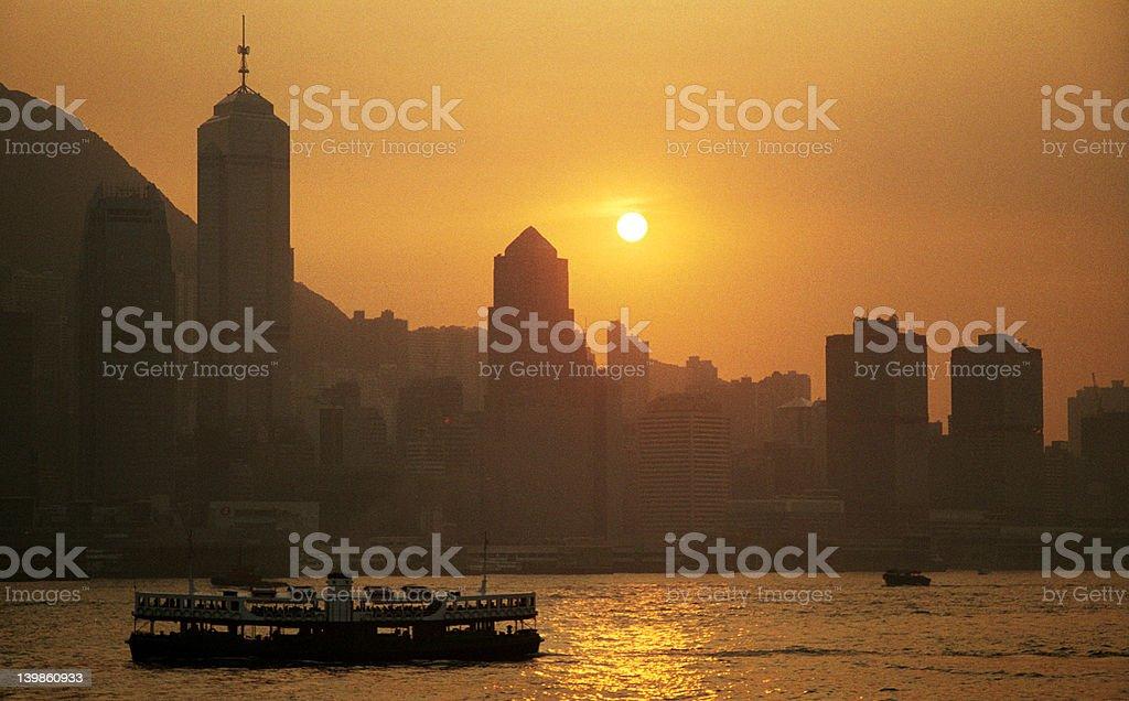 Hong Kong Sunset royalty-free stock photo