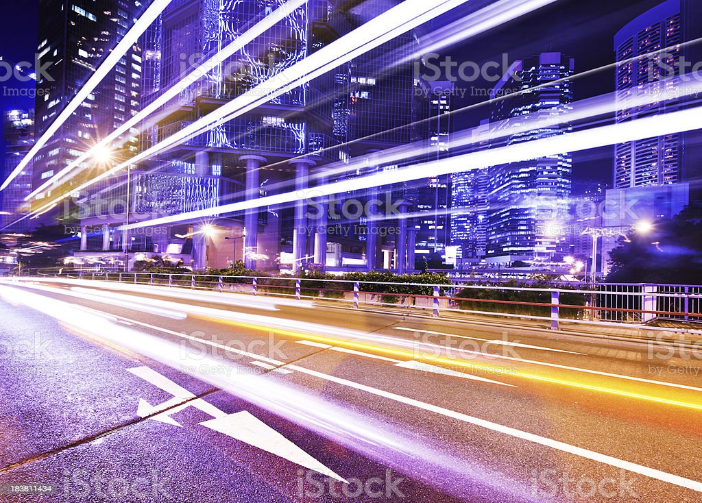 Hong Kong Traffic royalty-free stock photo