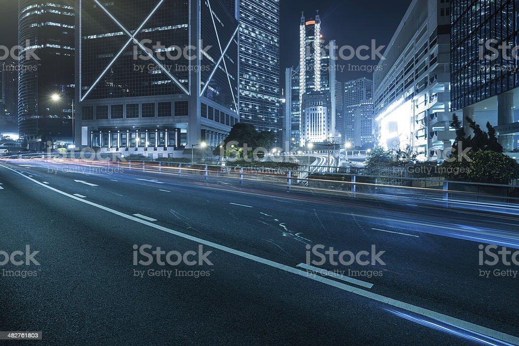Hong Kong traffic stock photo