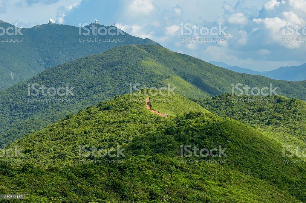 Hong Kong trail beautiful views and nature stock photo