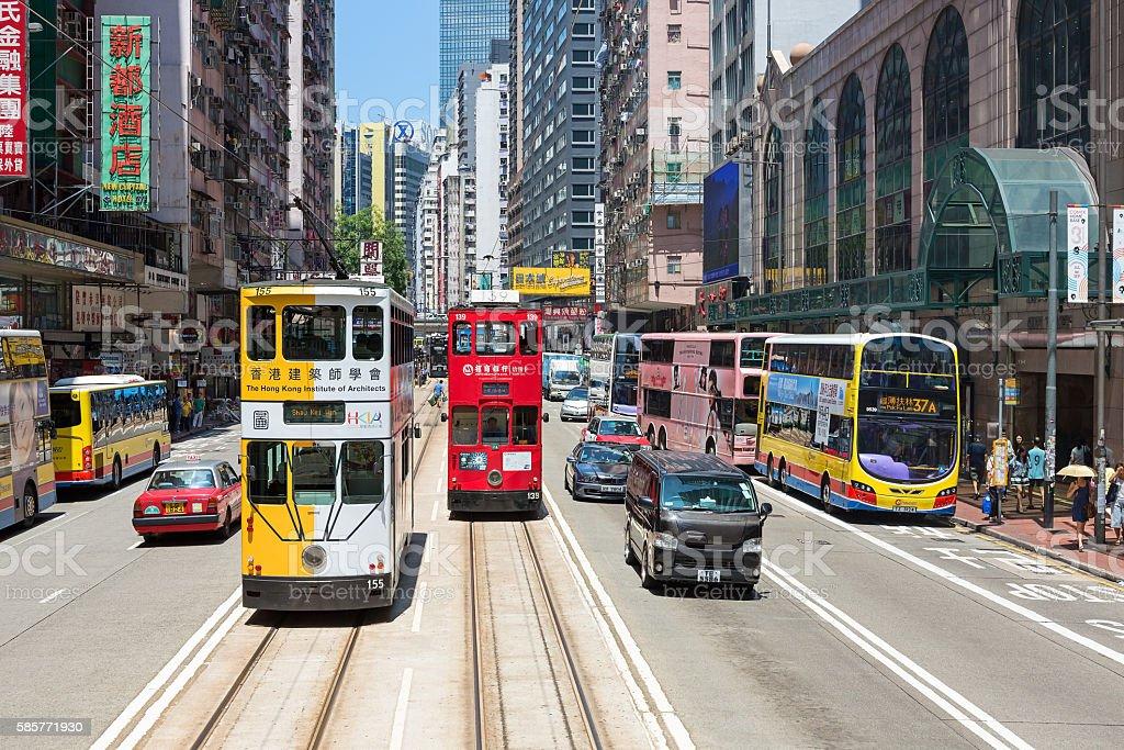 Hong Kong Tram stock photo