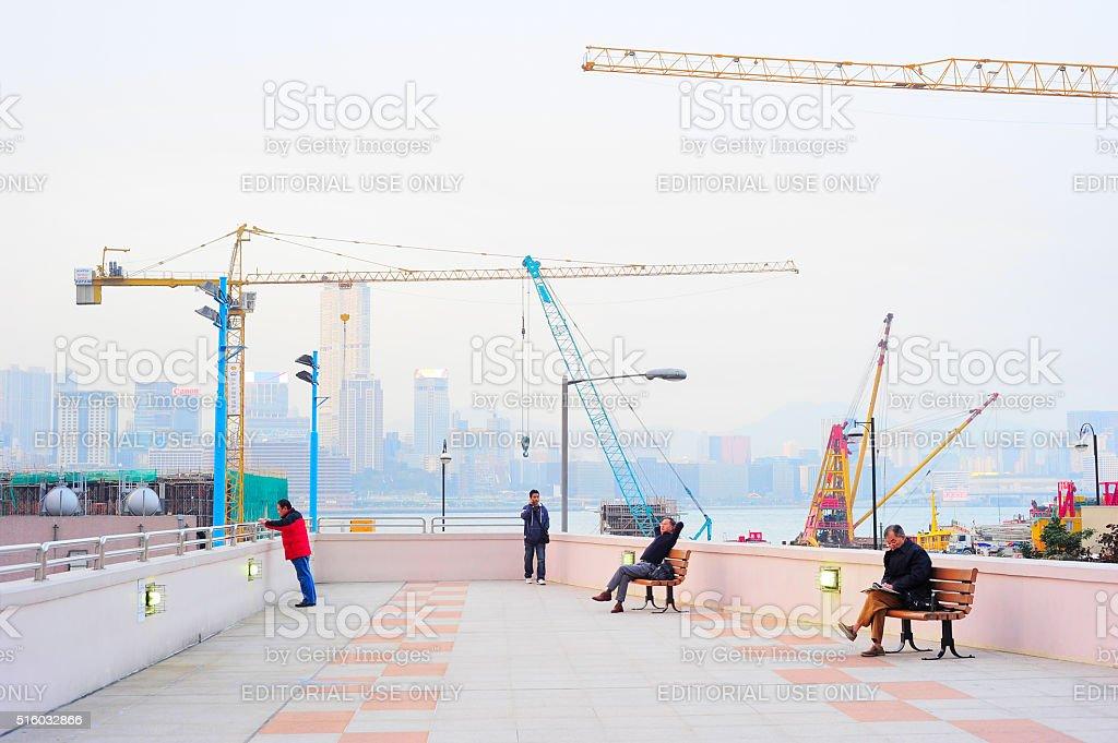 Hong Kong urban life stock photo