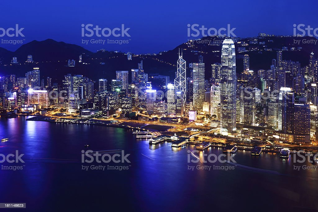 Hong Kong Victoria Harbor royalty-free stock photo