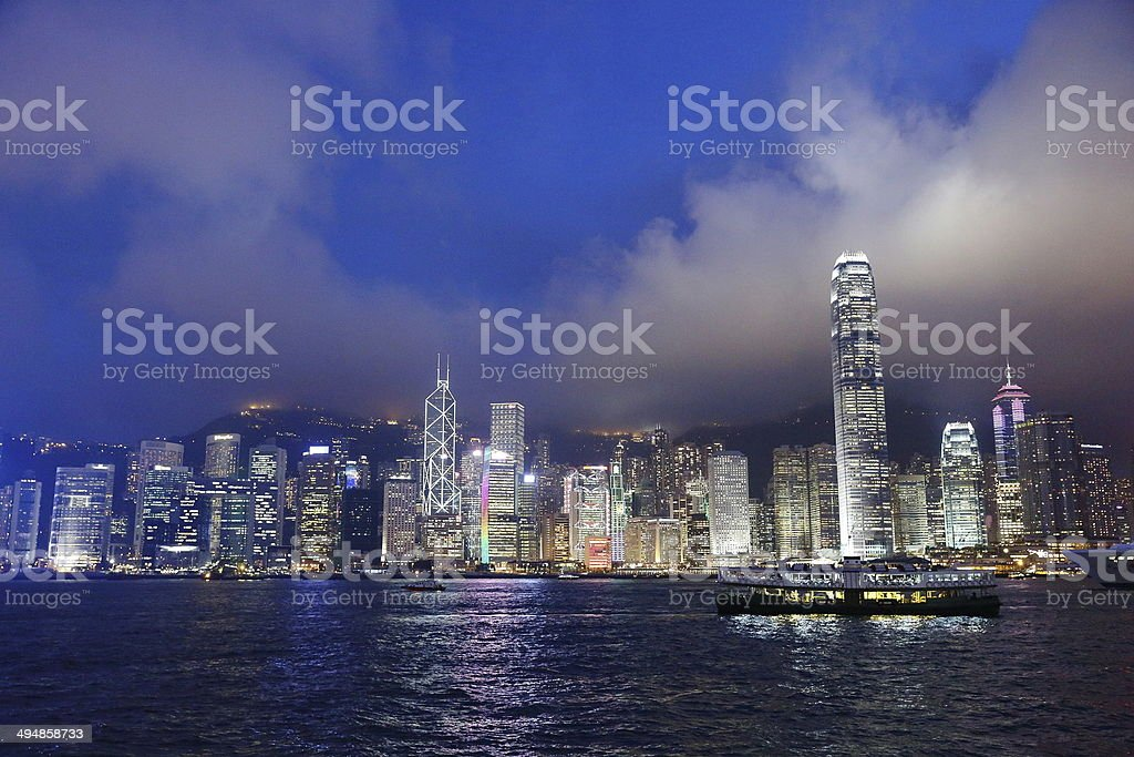 Hong Kong Victoria Harbor stock photo