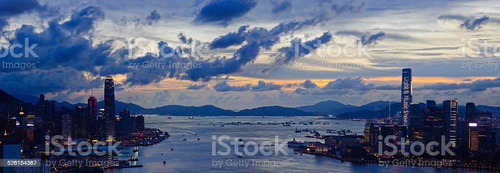Hong Kong - Victoria Harbor stock photo