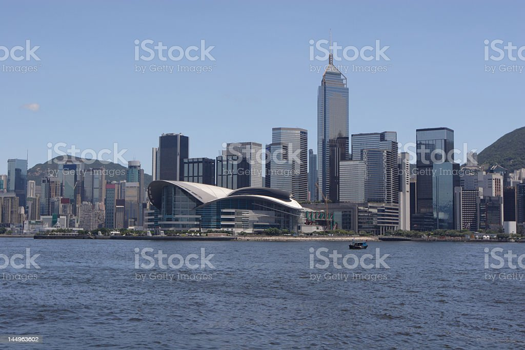 Hong Kong Victoria Harbour royalty-free stock photo