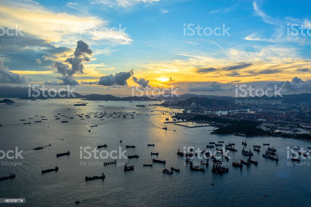Hong Kong View from sky 100 royalty-free stock photo