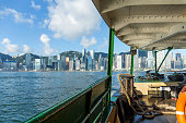 Hong Kong view from the boat