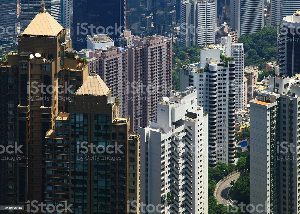 Hong Kong, View from the Victoria Peak stock photo