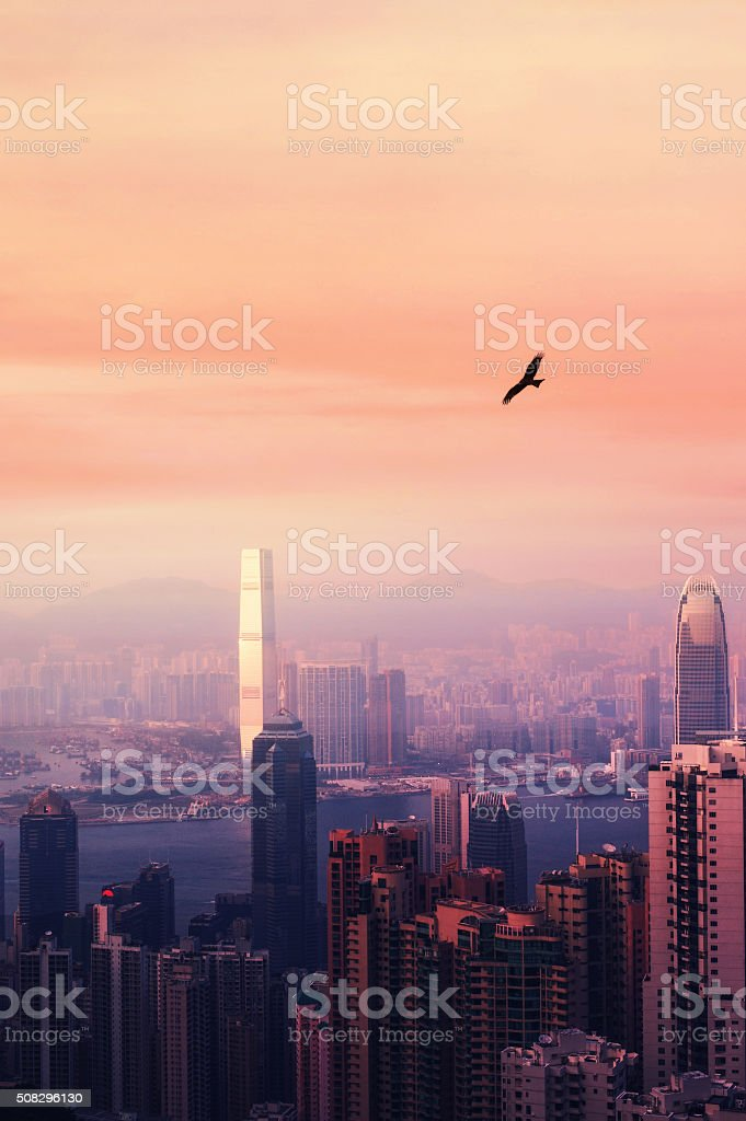 Hong Kong view stock photo