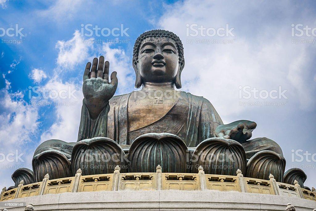 Hong Kong's Giant Buddha stock photo
