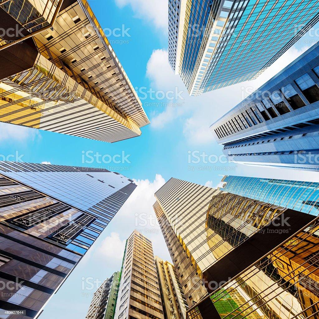 Hong Kong's skyscrapers stock photo
