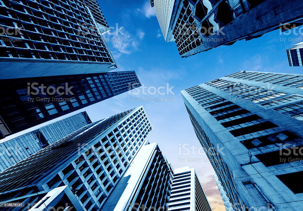 Hong Kong's skyscrapers stock photo