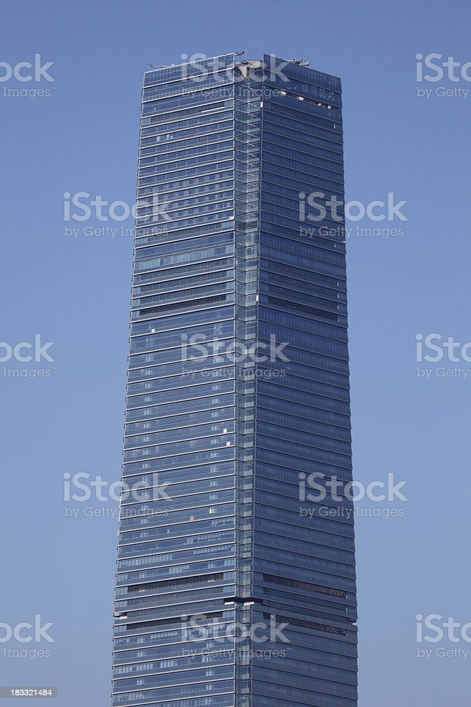 Hong Kong's tallest building : International Commerce Centre royalty-free stock photo