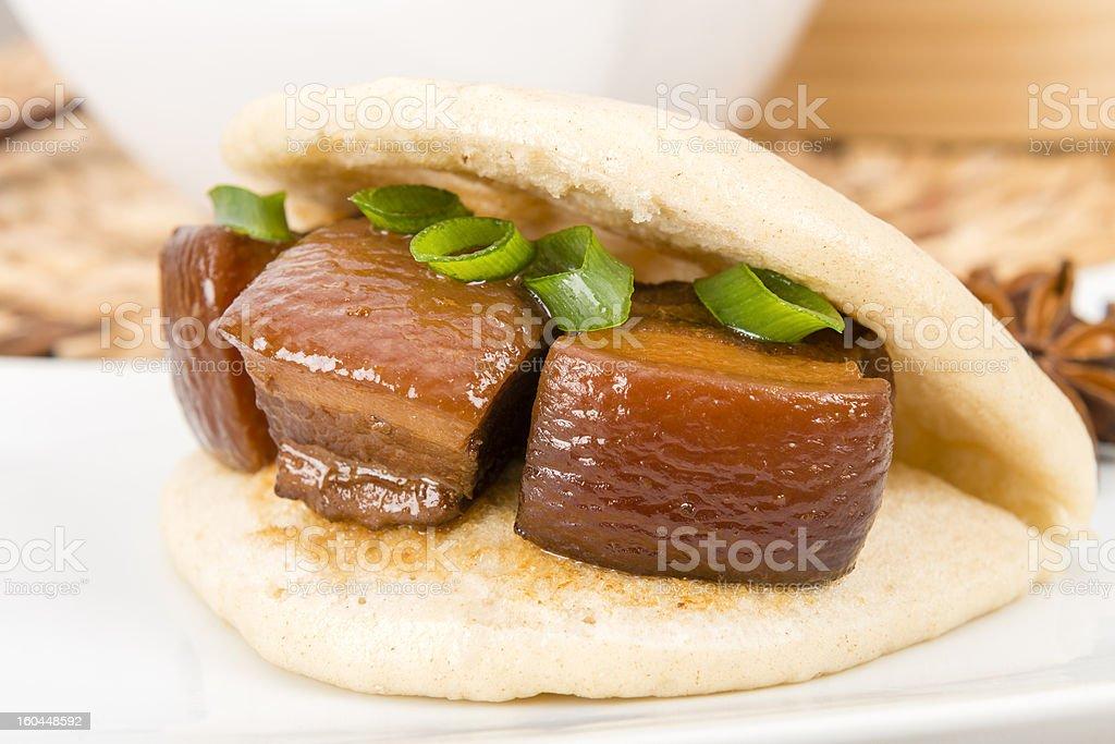 Hong Shao Rou (紅燒肉) - Chinese Red Braised Pork royalty-free stock photo
