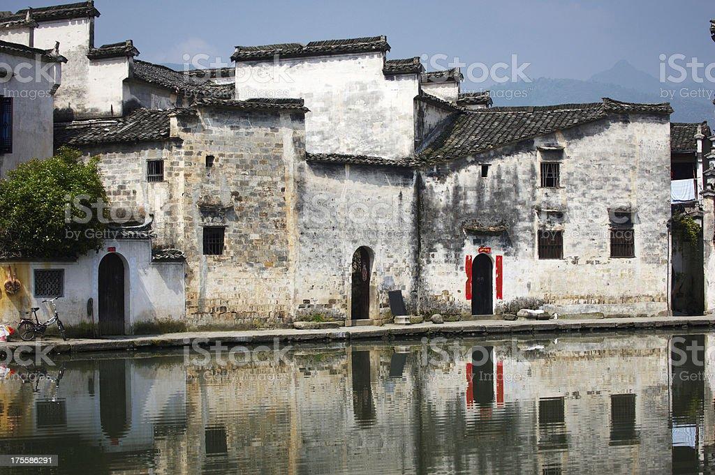 Hongcun old town stock photo