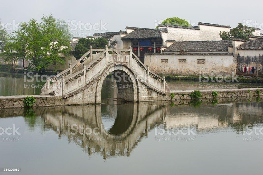 Hongcun old village stock photo