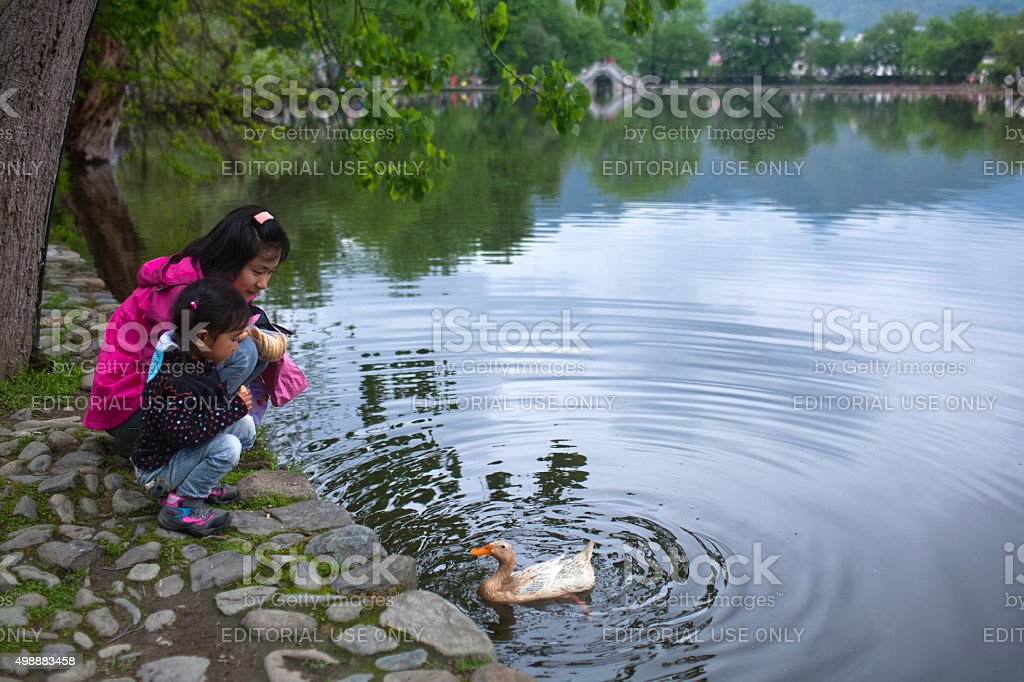 Hongcun Village in Anhui Provunce, China stock photo