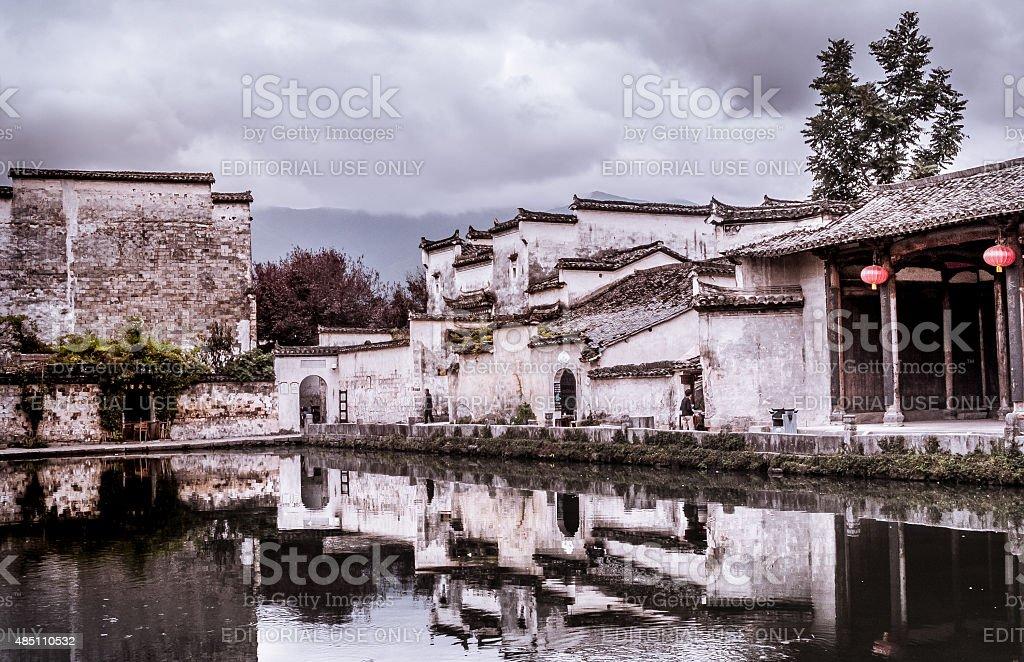 Hongcun village stock photo