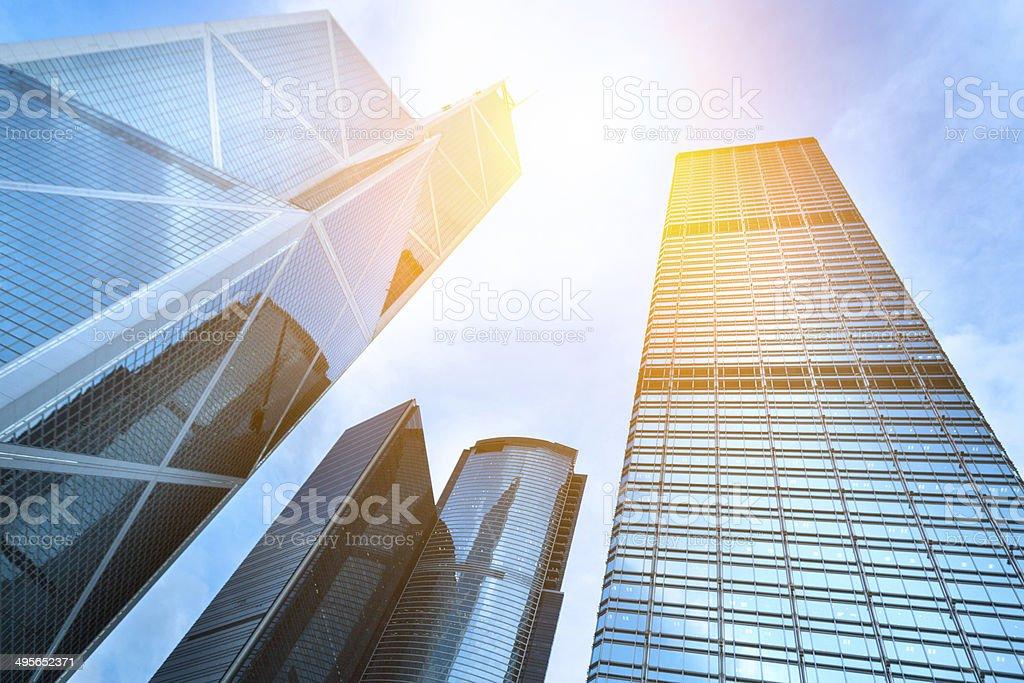 Hongkong Buildings stock photo