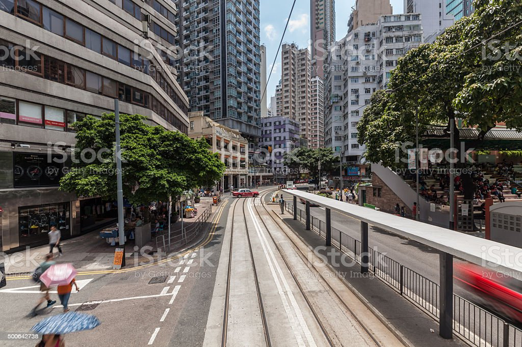Hongkong Central Building/Street View stock photo