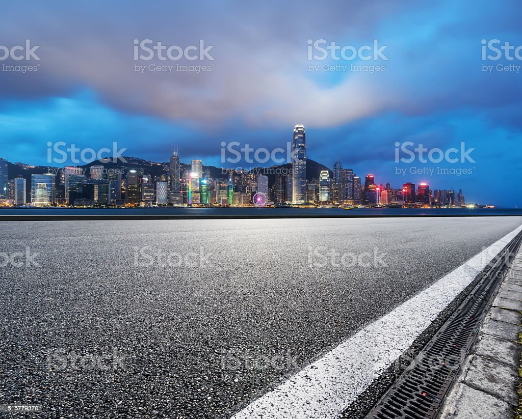 Hongkong night stock photo