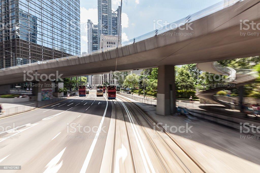Hongkong traffic stock photo