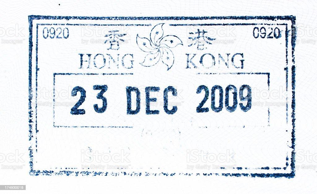 Hongkong visa royalty-free stock photo