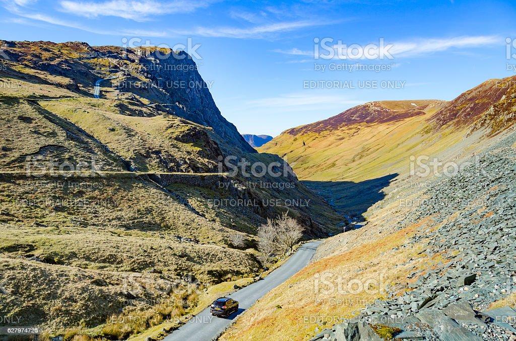Honister Pass Cumbria. stock photo