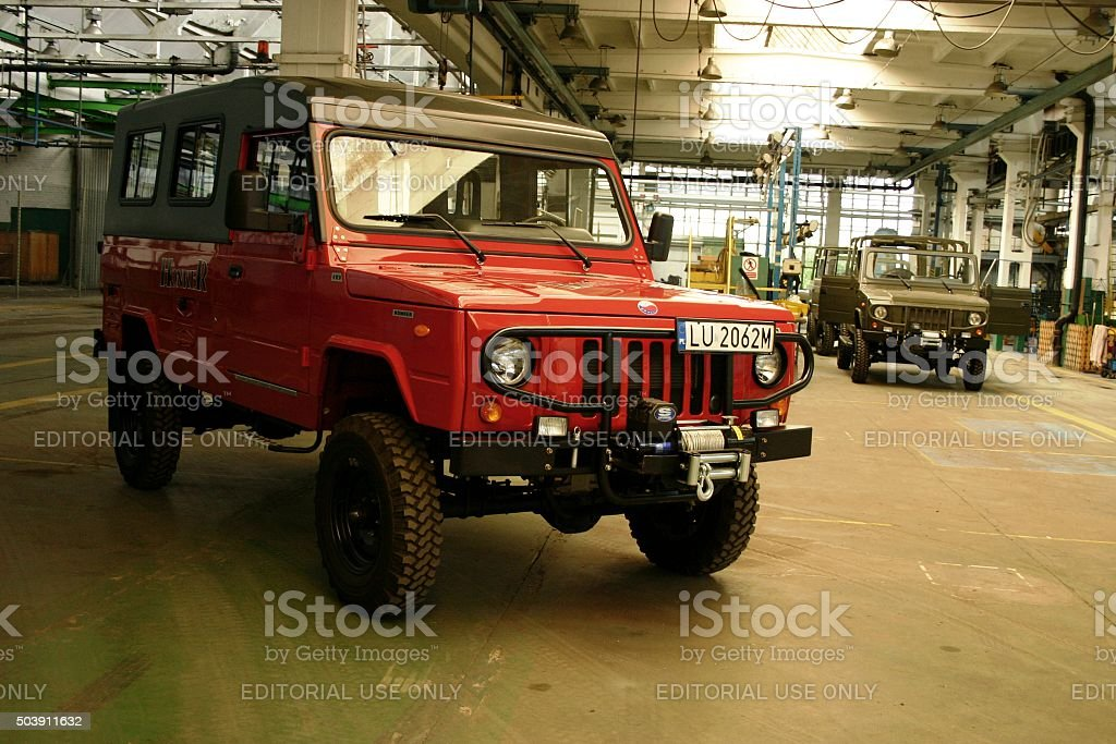 Honker - Polish off-road vehicle in factory stock photo